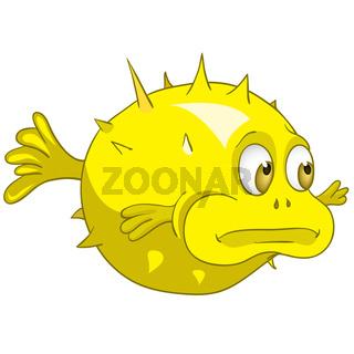 Cartoon Character Fish Urchin