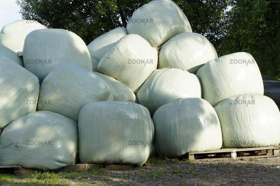 hay packaged