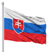 Waving flag of Slovakia