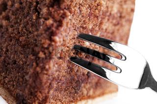 nahaufnahme eines schokoladenkuchens
