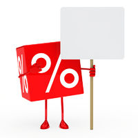red sale cube billboard