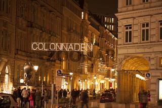 Die Colonnaden in Hamburg