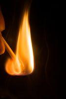 matchstick when lighting