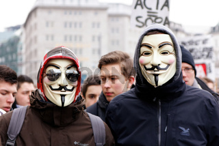 Anti-ACTA demonstration Hamburg, Germany