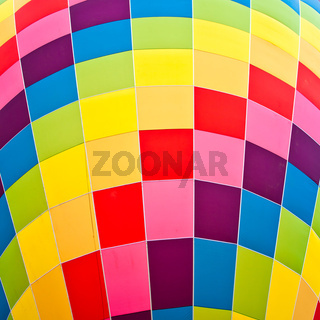 Colors on a fire balloon
