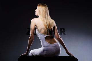 Woman in beauty concept - studio shooting