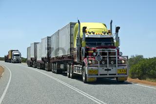 Roadtrain in Australien