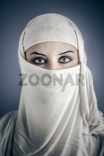 India, Young Arabic woman. Stylish portrait