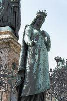 Bamberg, woman town holy statue Kunigunde