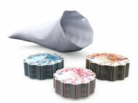 cornucopia and banknotes