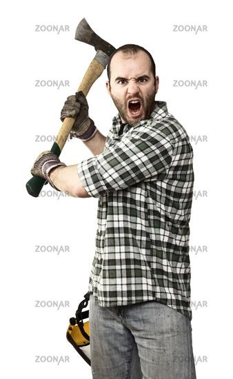 angry lumberjack
