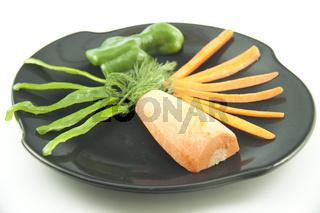Frische Paprika und Karotte