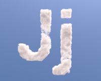 Letter J cloud shape