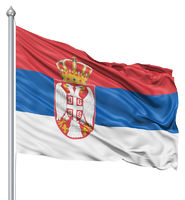 Waving flag of Serbia