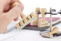 Stempel mit Aufschrift EFSF