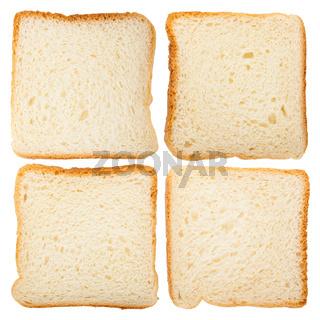 Slices of fresh bread