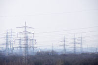 Electrical towers in the ruhr area, germany
