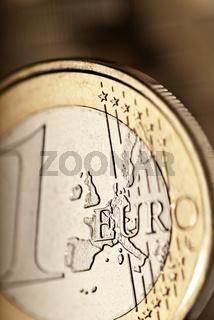 Detail einer Euromünze