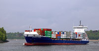 Katharina Schepers at tour at port of Hamburg