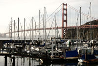 Golden Gate Bridge and Sailboats