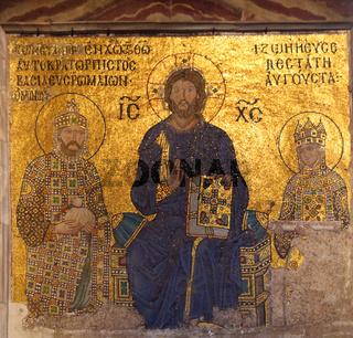 mosaic in Hagia Sofia - Istanbul Turkey