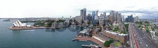 Panoramablick vom Pylon Lookout auf das Stadtzentrum von Sydney