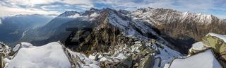Valley from the Mutpeak close to Meran /Tirolo