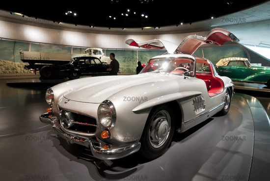 Mercedes Benz 300 SL Coupé im Mercedes Benz Museum Stuttgart