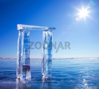Gates made from ice