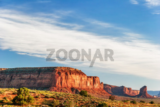 Sunny evening in Monument Valley. Arizona.