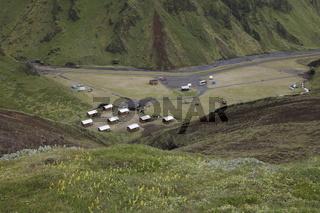 Þakgil (Thakgil) camping site. Mýrdalshreppur municipality