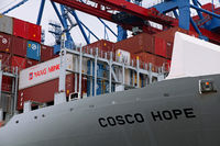Cosco Hope at Container Terminal Tollerort