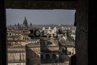 Panorama of Orchha. Madhya Pradesh, India
