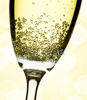 closeup of champagne flute