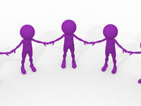 3d team circle community social teamwork