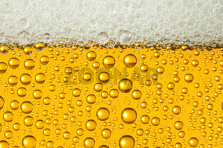 Macro of refreshing beer