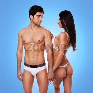 Sexy seductive couple