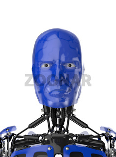 Cyborg Face - Blue