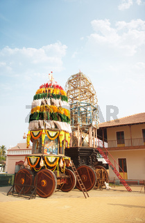 Holly chariot in the Indian temple