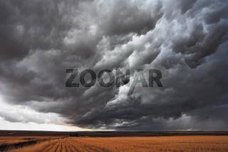 The massive storm cloud