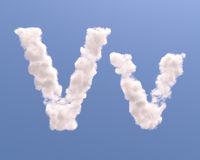 Letter V cloud shape