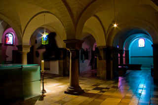 Gothic church cloisters . The Crypt