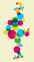Multicolored bubbles background