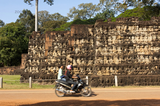 At the Terrace of the Leper King, Angkor Thom
