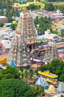 Gopura ( towers) of  Lord Bhakthavatsaleswarar Temple. Built by Pallava kings in 6th century. Thirukalukundram (Thirukkazhukundram)