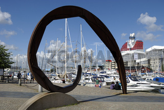 Skulptur Snäckan in Göteborg