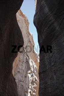 Felsenschlucht zum Al-Khaznet al-Faraoun