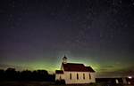Night Church Northern Lights