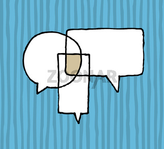 Dialog agreement / Negotiation Speech Balloons