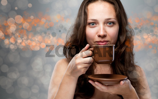Beautiful Woman With Coffee.